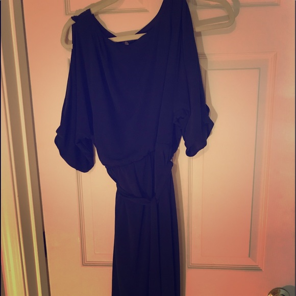 Jessica Simpson Dresses & Skirts - Jessica Simpson Navy Faux Wrap Dress